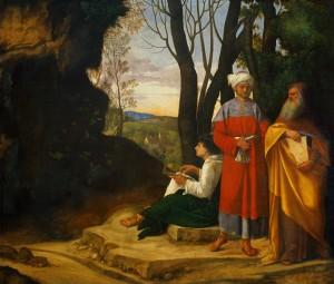 Giorgione - Les trois philosophes 2